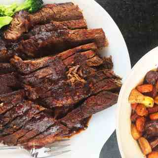 Sweet and Sour Brisket with Roasted Vegetables