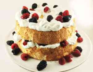 Angel Food Cake with berries