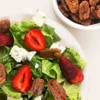Strawberry Gorgonzola Salad Sweet Spicy Pecans
