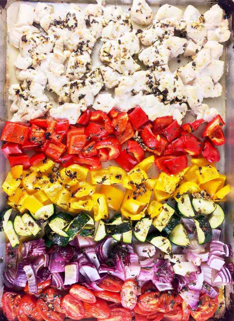 Sheetpan Greek Chicken Vegetables