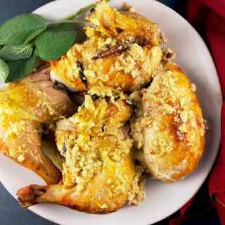 Roast Chicken in Milk (Jamie Oliver)