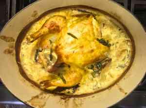 Jamie Oliver Roasted Chicken in Milk