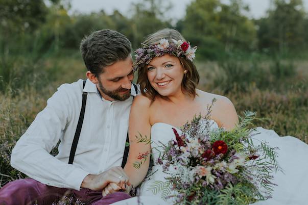 Herbstliches After Wedding in Pflaume und Marsala von Julia Hofmann Fotografie  Humming
