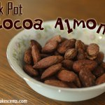 These Crockpot Cocoa Almonds are so easy and so yummy! All you need to do is cook, stir, cook, and then dump! Then hide them from the kids!