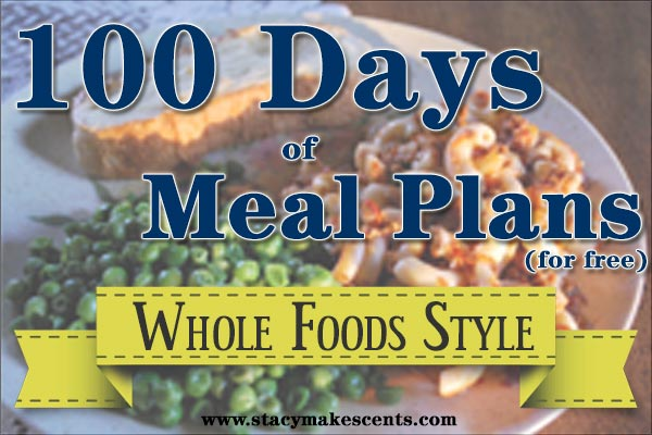 Over 3 months worth of meal plans all laid out for you! No thinking on your part. Just shop and cook!""