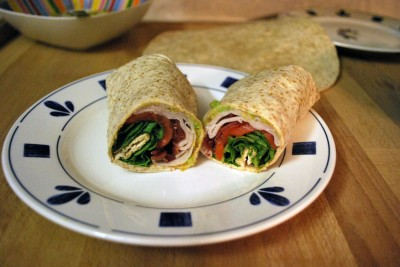 Turkey, Bacon, and Guacamole Wraps
