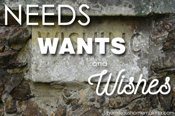 Before you can establish a budget, you have to determine your needs, wants & wishes! Nowadays these items can often get mixed up.