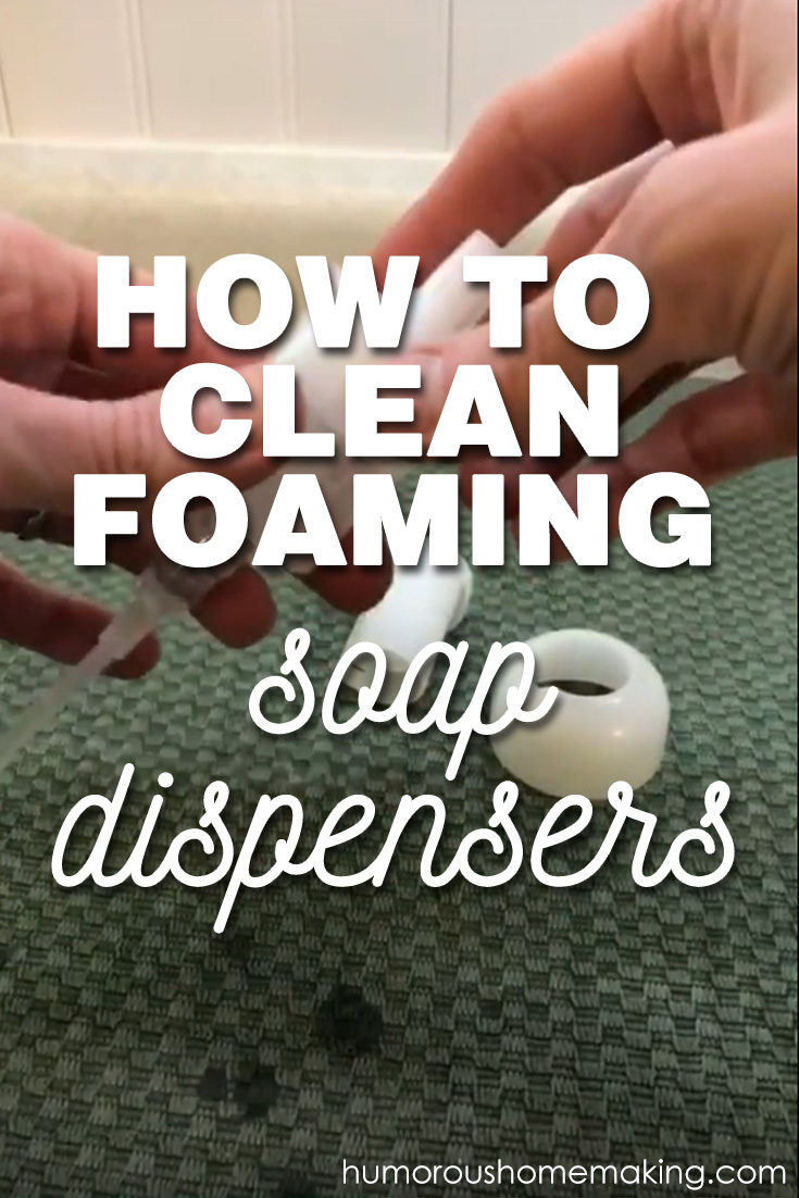 clean foam soap dispenser