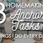 homemaking anchor tasks