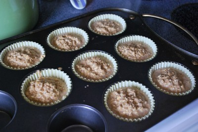 A great idea for taking a healthy breakfast or snack on the go! These healthy baked oatmeal muffins hit the spot every time!