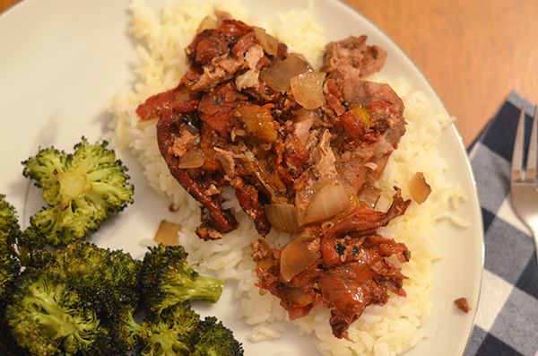Roasted Red Pepper Pork Chops