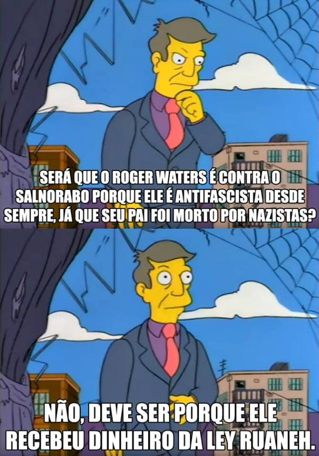 Meme Roger Waters e apoiadores do Bolsonaro
