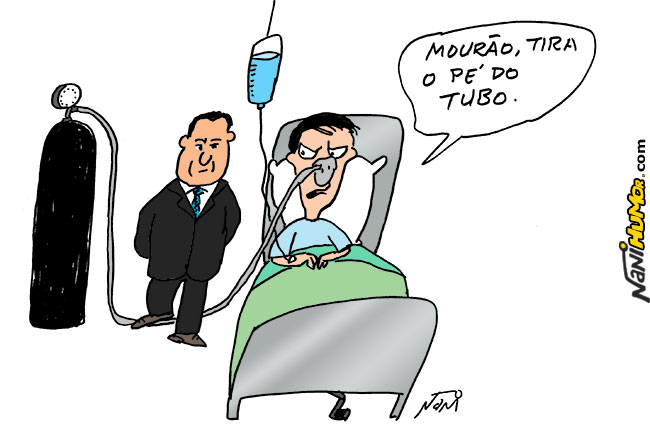 General Mourão e Jair Bolsonaro no Hospital