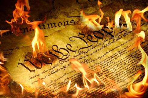 Image result for images of burning Constitution
