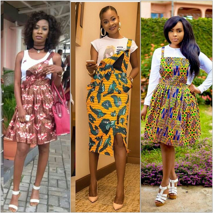 Who wore it better: The ankara print pinafore