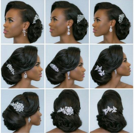 Bridal hair comb accessories in Nigeria