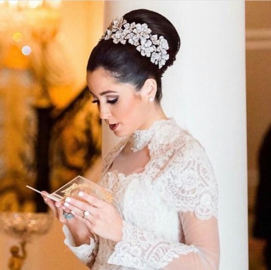 bridal hair headpiece with swavroski stones