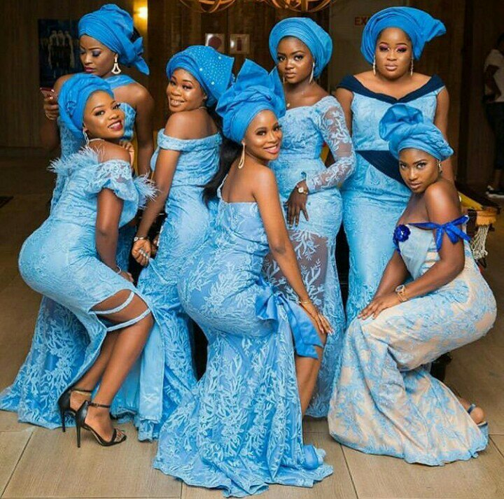 Amazing Blue Lace Aso Ebi Styles Collection For 2019