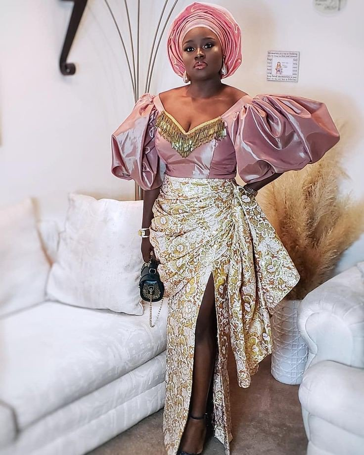 Image result for The Puff sleeves Aso Ebi Styles 2020