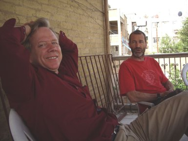 Relaxing with Tim Facey, Baghdad