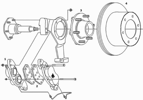 small resolution of dexter 6k axle disc conversion kit parts illustration