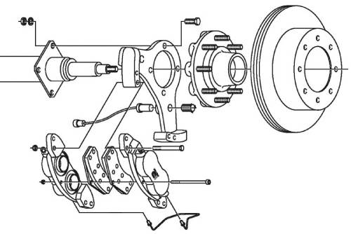 small resolution of dexter 8k axle disc conversion kit parts illustration