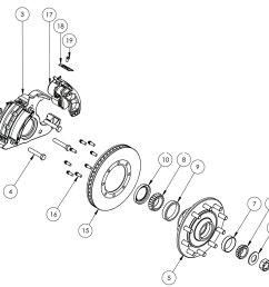 kodiak 14k special single wheel axle disc brake parts illustration [ 1400 x 1050 Pixel ]