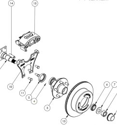 kodiak 3 5k 10 inch rotor surge disc brake parts illustration [ 1400 x 1120 Pixel ]