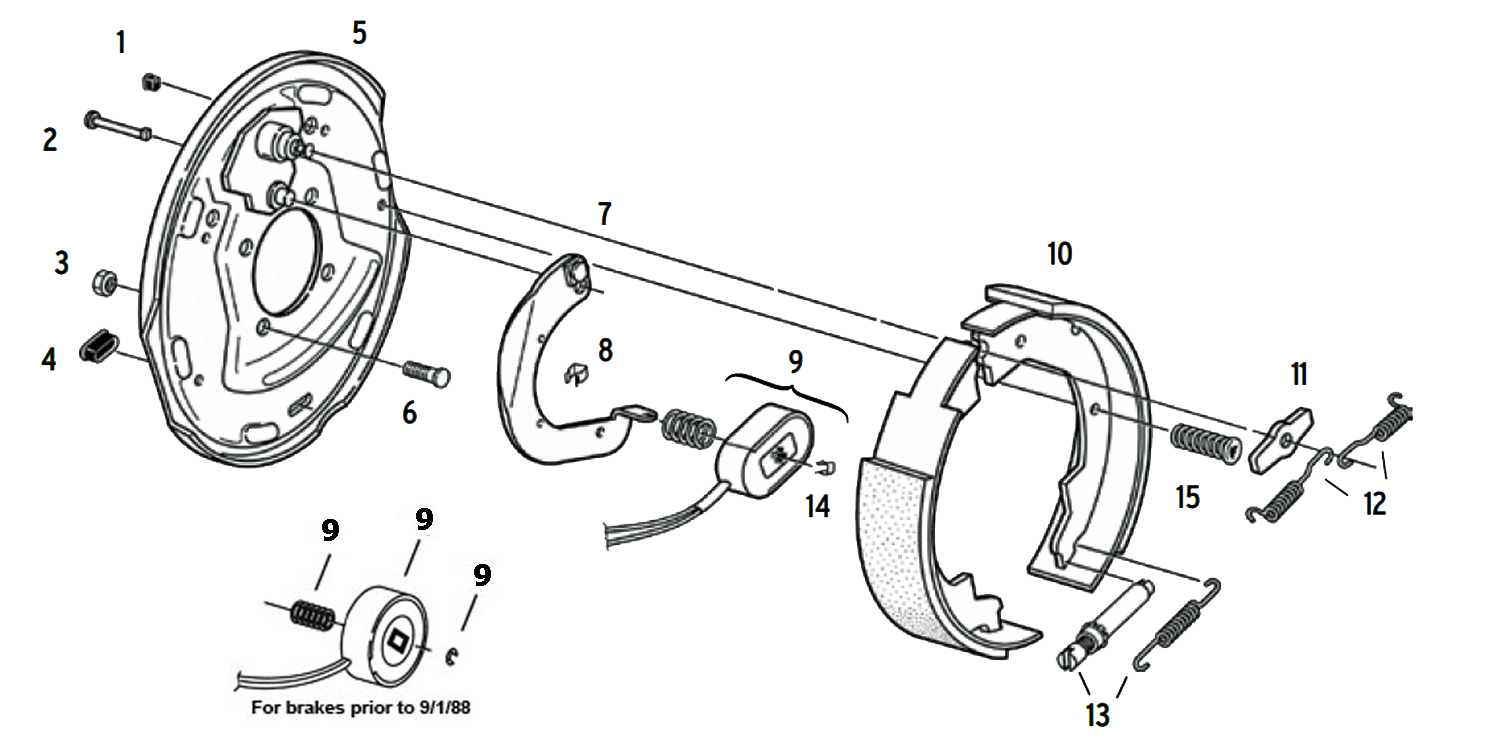 hight resolution of dexter 10 x 1 1 2 inch electric brake parts illustration