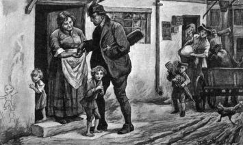 Children sold by their parents to work as chimneysweeps Date: early 19th century Source: unnamed artist
