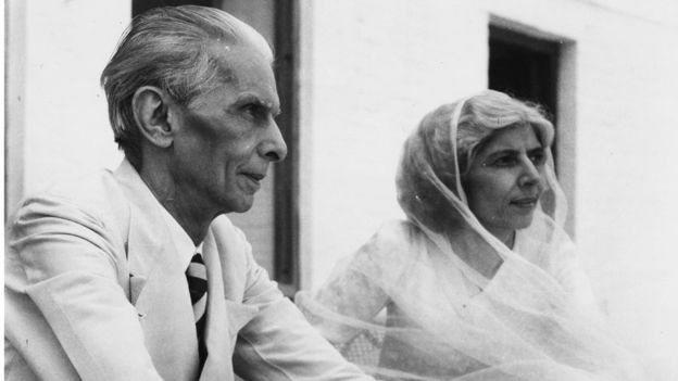 اپنی بہن فاطمہ جناح کے ساتھ محمد علی جناح
