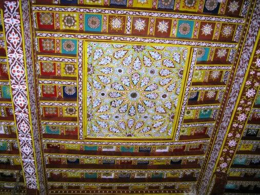 جلال الدین رومی کے مزار کی منقش چھت