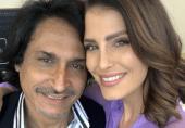 رمیز راجہ کے ساتھ موجود یہ خاتون کون ہیں؟