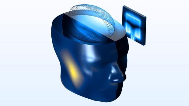 Výpočet SAR vlidské hlavě pomocí COMSOL Multiphysics5.5.