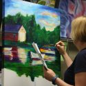 adult student oil painting