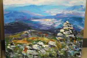 Acrylics landscape painting