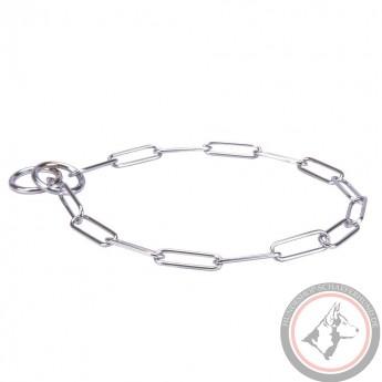 Verchromtes Kette Halsband für Schäferhund-Erziehung und