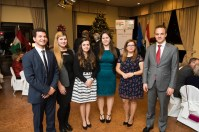 2016 CIP interns participate at the Hungarian American Coalition Annual Mikulas Dinner