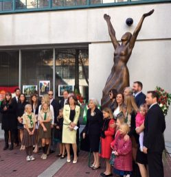 The Jackovics Family, main sponsors of the renovation at the Gloria Victis statue