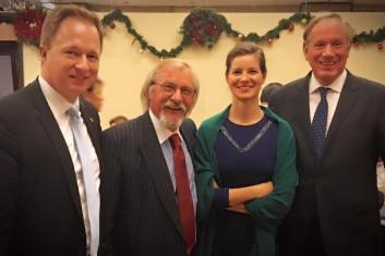 Consul General Ferenc Kumin, Istvan Dobozi, Anna Smith Lacey and George Pataki