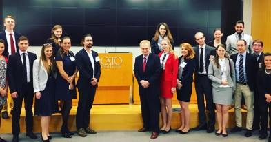 YHLP 2017 participants with Dr. Pilon at the Cato Institute
