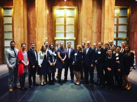 YHLP 2017 participants at the State Department after their briefing