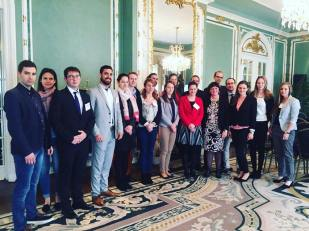 YHLP 2017 participants at the Hungarian Embassy with Amb. Réka Szemerkényi