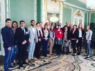 YHLP 2017 participants at the Hungarian Embassy with Amb. Réka Szemerkényi