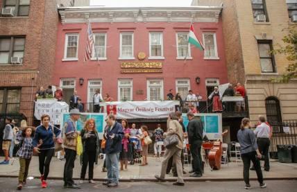 hungarian festival NY street scape