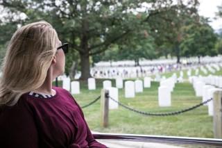 Virág Turcsán at Arlington Cemetery