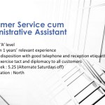 Customer Service cum Administrative Assistant