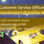 Customer Service Officer (Taxi Coordinator) @ Seletar Airport