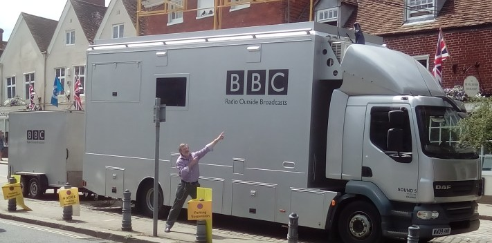Hungerford Arcade BBC Outside Broadcast Radio 4 July 2017
