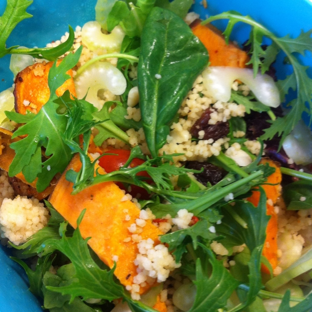 Couscous with sweet potato and raisins